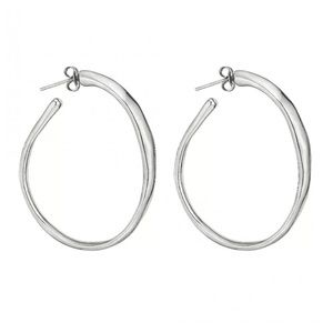 "UNO de 50 ""Ohmmm"" Silver Plated Irregular Hoops"